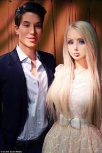 Human Barbie and Human Ken didn't hit it off.